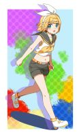 runnning Rin-chan 2015 by grimay