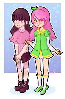 Hannah and Lydia by MatchiiTea