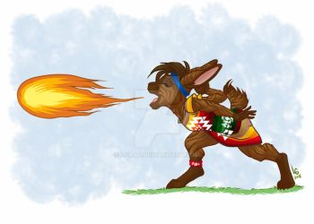 Commission: Dreaming Cloud - Fire Breath by LGraf