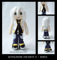 Kingdom Hearts 2 - Riku plush by momoiro-machiko