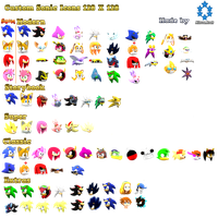 Sonic Icon Collection Version1 By Nibrocrock-d by davis2d2
