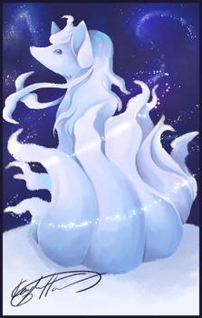Alolan Ninetails by Kaydreamer