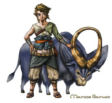 Link's Ordon Goat by marcosbaruco