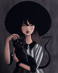 witch in the hat by valentina-unicornia