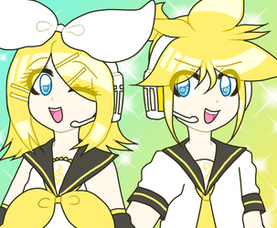 THE KAGAMINE TWINS GET ALONG by hatsune7