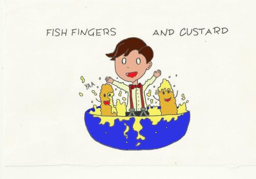 Fish fingers and custard colored! (Dr Who) by pixi152