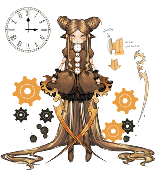 [ ADOPTABLES ] Steampunk Doll ( CLOSED ) by Nanamichiii