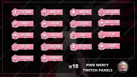 Pink Mercy - Twitch Panels by lol0verlay