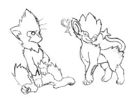 Manectric and Luxray