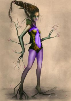 Evil Dryad of the Dark Woods by BasakTinli