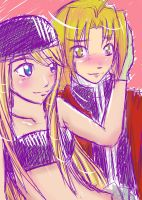 Winry and Ed by Rina-ran