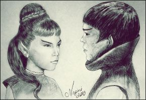 Young Spock and T'Pring by Nagini-snake