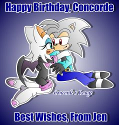 Concorde x Rouge :B'day Gift: by JenHedgehog