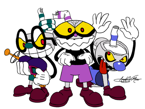 Evil Cup Gang by AVM-Cartoons