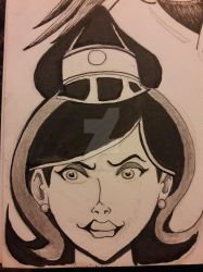 Councilwoman 1 Dr Mrs The Monarch Inktober Day 11 by DoctorFantastic