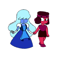Ruby and Sapphire by WaddleDee125