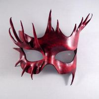 Spadix Leather Handmade Mask by Shadows-Ink