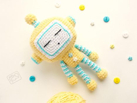 Sleeping Robot by theAmigurumer