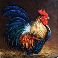 Little Serama Rooster by HouseofChabrier