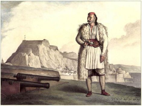 The Albanian Warrior In 1809 by eduartinehistorise