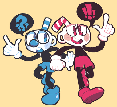 Cuphead and Mugman by DINKY-INK
