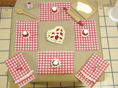 Playscale 1:6 Scale Deluxe Cherry Baking Set by BeautifulEarthStudio