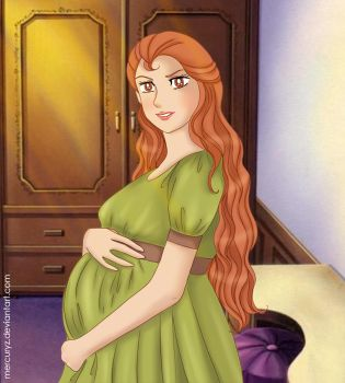 pregnant Eliza by mercuryZ