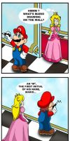 Mario and Peach - Drawing skills by Princesa-Daisy