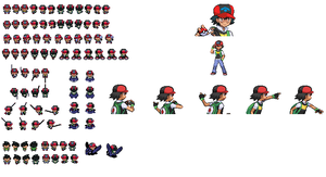 Sprite Request-BlackStorm20x- Sinnoh!Ash by PKMNTrainerSpriterC