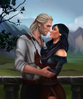 Geralt and Yen by PolarSeal