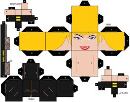 Cubee Craft Black Canary DC Super Heroes by handita2006