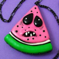 Watermelon Necklace - pointy by True-Crimeberry