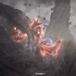 SPIDER-MAN IRON-MAN TITAN WALLPAPER by YLMZDESIGN