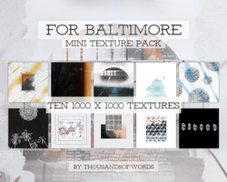 TEXTURE PACK 02 | FOR BALTIMORE by herrondale