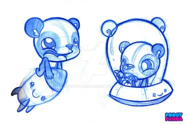 Panda Space Sketches by podgypanda