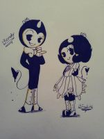 Brother and sister by Bunny-Pink