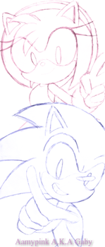 Sonic and Amy ID by Aamypink