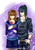 Kanda and Rei - request by twinart