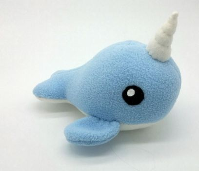 Blue Narwhal Plush by Gemlettuce