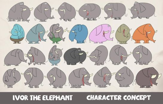 Ivor the Elephant by Cosmic-Onion-Ring