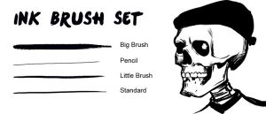 Ink Brush Set by engelszorn