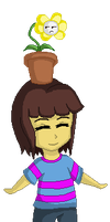 Undertale - Frisk and Flowey Pagedoll by MamaBearShiva