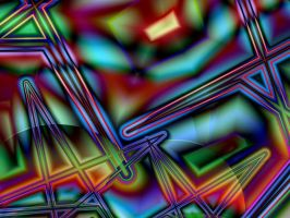 Psychedelic Street Map by Thelma1