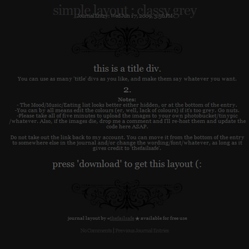 Simple Layout - Classy Grey by thefailsafe