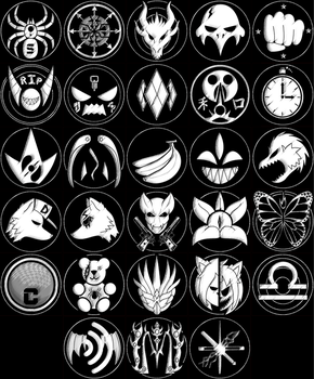 Crimson Society Insignias by TheSpiderManager