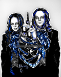 Fiona Dourif and Brad Dourif by HumanPinCushion