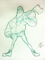 Woodsman - Second Sketch by SaTTaR