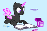 mlp base:now what should i do with the book? by SapphireScarletta