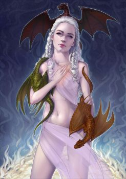 khaleesi Daenerys - WIP Critiques please. by Kinky-chichi