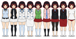 | Hidden Academy's girl uniforms | by zZLazyWolfZz